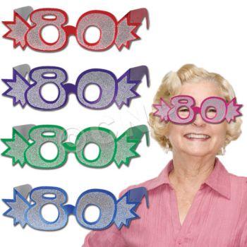 80 GLITTER FOIL GLASSES