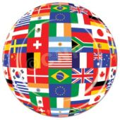 "International Flag 9"" Plates - 8 Pack"