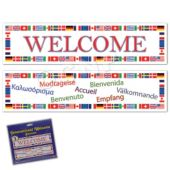 International Welcome Banner Decoration