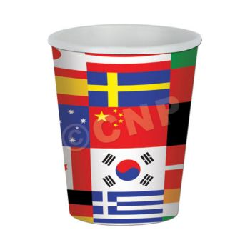 International Flag 9 oz. Cups