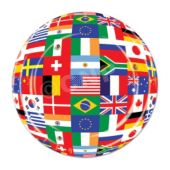 "International Flag 7"" Plates - 8 Pack"