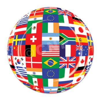 "International Flag 7"" Plates"
