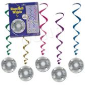 Disco Ball Whirl Decorations-5 Pack