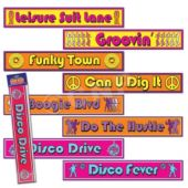 Disco Street Signs-4 Pack