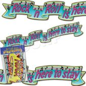 Rock & Roll Banner Decoration