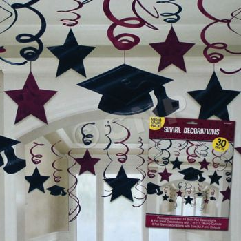 MAROON GRAD SWIRLS VALUE PACK