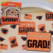 Orange Graduation Cutouts