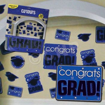 BLUE GRADUATION CUTOUTS