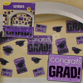 PURPLE GRADUATION CUTOUTS