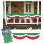 Red, White & Green Fabric Bunting