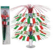 "Italian Flag 18"" Cascade Centerpiece"
