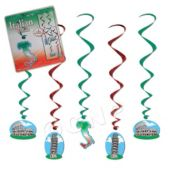 Italian Icon Whirl Decorations-5 Pack