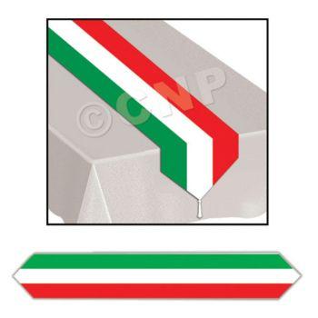 RED, WHITE, GREEN TABLE RUNNER