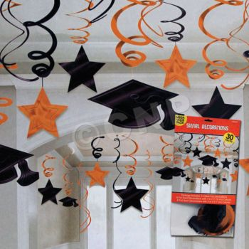 ORANGE GRADUATION SWIRLS