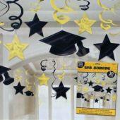 Yellow Graduation Swirls