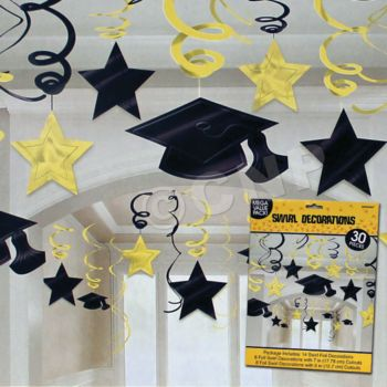 YELLOW GRADUATION SWIRLS