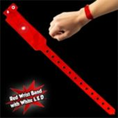 Red Security Wrist Band With White LED Light