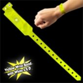 Yellow Security Wrist Band With White LED Light