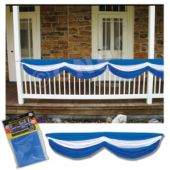 Blue & White Satin Bunting