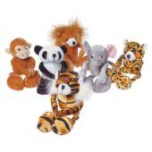 """Plush Wild 7 1/2"""" Animals - 12 Pack"""