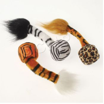 ANIMAL PRINT BALLS WITH TAILS
