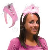 Pink Feather LED Tiara