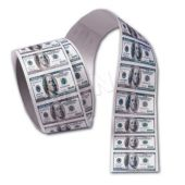 "$100 Bill 1 5/8"" Stickers - 100 Pack"
