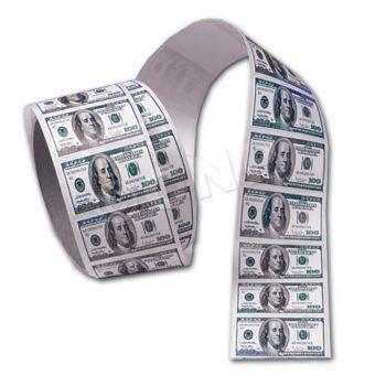 $100 BILL STICKERS