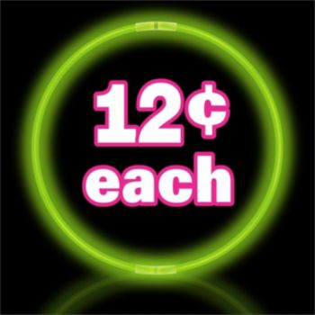 "17"" Green Break apart Glow Necklaces"