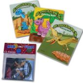 "Dinosaur 5"" Coloring Books - 12 Pack"