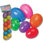 Colorful Plastic Eggs - 12 Pack