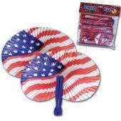 Patriotic Fans-12 Pack