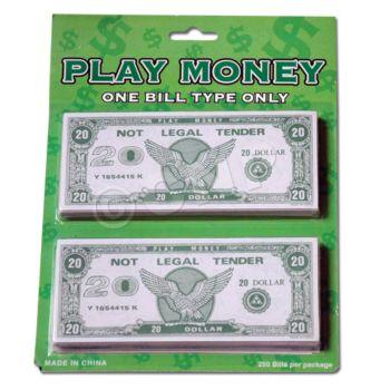 $20 PLAY MONEY