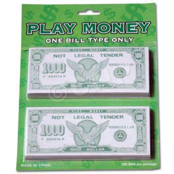 $1000 PLAY MONEY