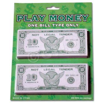 $10 PLAY MONEY