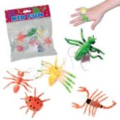 Neon Bug Rings - 12 Pack