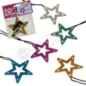 Star Metallic Necklaces - 12 Pack