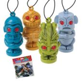 Tiki Man Necklaces - 12 Pack