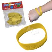 Yellow Spirit Bracelets, 12 Pack