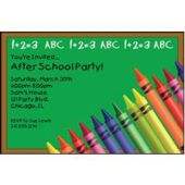 School Colors Personalized Invitations