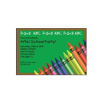 School Colors Personalized Invitations