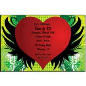 Grunge Heart Personalized Invitations