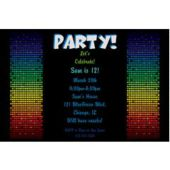 Groovy Squares  Personalized Invitations