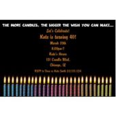 Colorful Candles Personalized Invitations