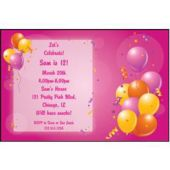 Pink Party Personalized Invitations