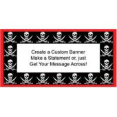 Pirate Party Custom Banner (Variety of Sizes)