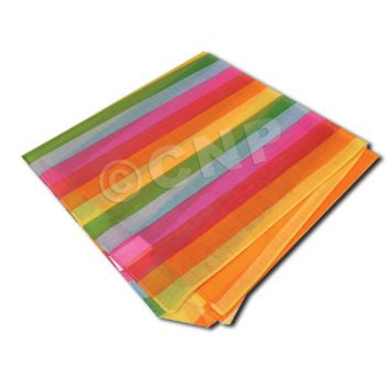 Rainbow Stripe Bandanas - 21 Inch, 12 Pack