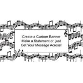 Musical Notes Custom Banner