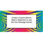 Funky Neon Zebra Custom Banner