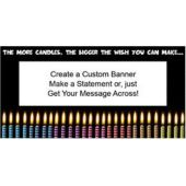 Lots Of Birthday Candles Custom Banner